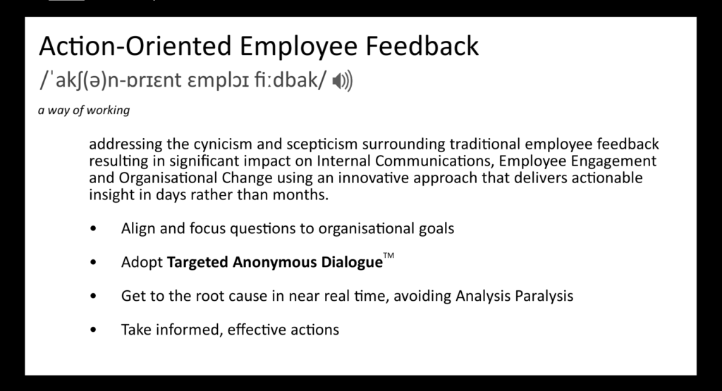 Definition of Action-Oriented Employee Feedback
