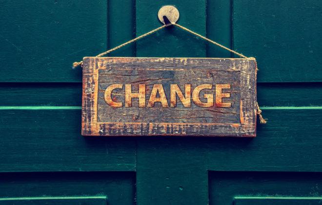 Change door sign